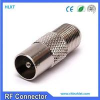 China F female to pal male connector for RG 6 , straight , nickel plated , 75 ohm wholesale