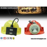 China 0.38M Cable White Color Light  8000lux  LED Mining Light , IP68 Miners Hard Hat Light wholesale