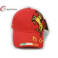 China Red F1 Horse Racing Baseball Caps Snapback Baseball Hats With Reinforced Sweatband wholesale