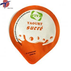 China Food Grade Aluminium foil sealing lids for yogurt cup, yogurt cup sealing lids on sale