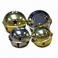 China L-shaped Jingle Bell with Nickel or Brass-plated Finish, Available in Various Sizes wholesale
