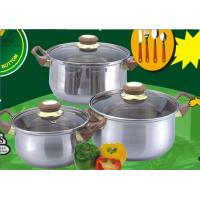 China 6 PCS Stainless Steel Cookware Sets,Cooking Pots and Pans with Mirror Polish wholesale