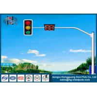 China Tapered Round Traffic Sign Poles With Single or Double Outreach Arms on sale
