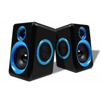 China Blue / Black Wired Pc Speakers 2.0 , Small Speakers For Desktop Computer wholesale