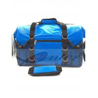 China Blue 500D Polyester PVC Travel Cooler Bag With Screen Printing / Embossing Logo wholesale
