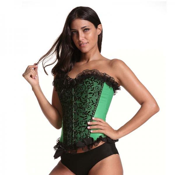Sexy Beauty Green Lace Waist Corset model