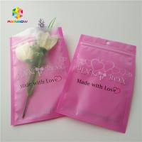 China Clear Heart Window Plastic Packing Bags For Eyelash Hair Extension / Gift Jewelry wholesale