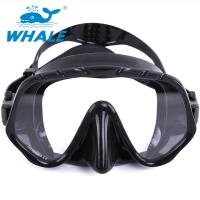 China Tempered Glass Lens Silicone Diving Mask With Food Grade Liquid Silicone Skirt wholesale
