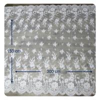 China Eco - Friendly Dyeing Wedding Dress Chantilly Lace Fabric , Ivory Repeated Floral wholesale
