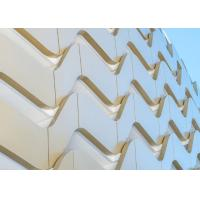 Quality 3mm Wavy Shape Aluminum Panel Building Cover PPG Shiny Cream White for sale