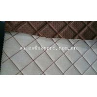 China Commercial upholstery rubber fabric laminated car mat flooring 3mm thick wholesale