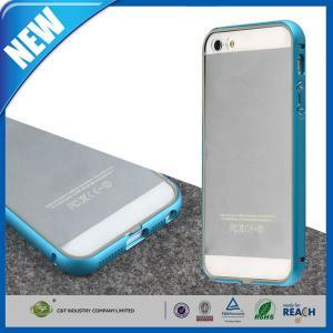 Ultra Slim Apple Mobile Phone Cases , Aluminum Metal Bumper Frame Iphone 5 5S Cover