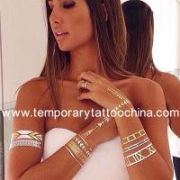 China Custom Design Foil Gold And Silver Flash Temporary Tattoos Body Golden Temporary Tattoos on sale