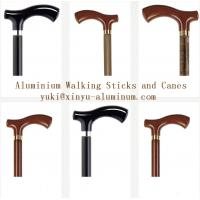 China Wooden Grain Transfer Printing Aluminium Round Tube for Walking Sticks / Canes wholesale