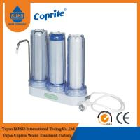 China Triple Filtration Three Stage Countertop Household Water Filter PP Activated Carbon on sale