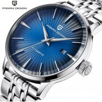 Buy cheap PAGANI Fashion Men Automatic mechanical watch With Calendar Leather Strap from wholesalers