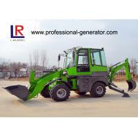 Buy cheap Green Heavy Construction Machinery , 1600kg Load Mini Backhoe Wheel Loader from wholesalers