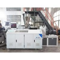 China PP PE PVC Water Electric Supply Double Pipe Plastic Extruder Machine Double Screw wholesale