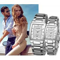 Quality CADISEN High Quality Full Steel Lovers Quartz Wrist Watch Couple Watch With for sale