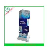 China 350g CCNB + K5 Corrugated cardboard Material cube cardboard display stands wholesale