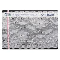 China Water Soluble Elastic Lace Fabric , Stretchable Lace Trim SGS CY-HB0285 wholesale