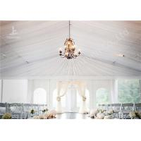 China White Water Repellent PVC Fabric Cover Aluminum Frame Wedding Decoration Tent wholesale