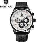China Benyar Fashion Leather Strap Stylish men's Watch Outdoor Casual Quartz Wrist Watch BY-5108 wholesale