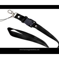 China black 20*900mm CMYK Submliamtion polyester lanyard strap with plastic buckle wholesale