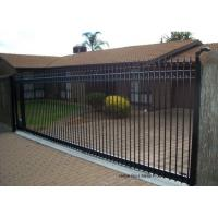 China Countryard Driveway Sliding Gate 1.8m*2.4m , Black Powder Coated Finished wholesale