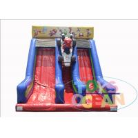 China Super Mario Brothers Inflatable Slides Two Lane For Kids 2 Years Warranty wholesale
