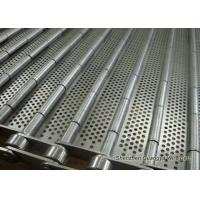 China Stainless Steel Perforated Conveyor Belt For Ultrasonic Cleaning Line 125mm Pitches wholesale