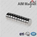 China N 42 disc nickel-coating industrial application neodymium magnet wholesale
