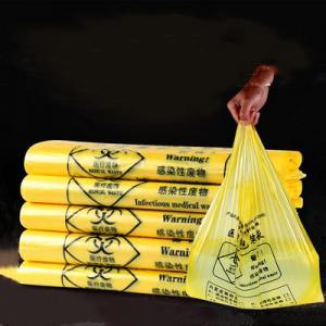 Heat Seal Biohazard Plastic Bag / Biohazard Disposal Bags Environmental Friendly