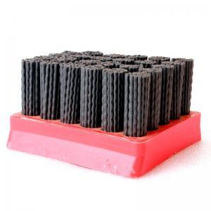 China Red Color Diamond Abrasive Brush Wear Resistance , High Efficiency Nylon Filament Brush wholesale