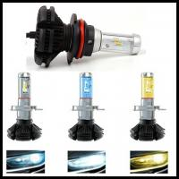 China X3 Fanless 6000LM 50W  ZES H4 9004 9007 H13 hi/lo beam LED headlight Car Auto LED DRL fog head light bulb wholesale