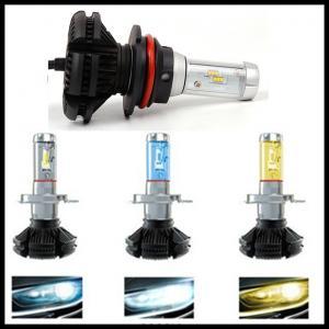 China X3 Fanless 6000LM 50W ZES H4 9004 9007 H13 hi/lo beam LED headlight Car Auto LED DRL fog head light bulb wholesale
