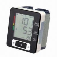 China Wrist Blood Pressure Monitor with Auto Power Off and 2 x AAA Batteries on sale