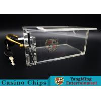 China 6 Decks Casino Poker Card Box With Lock / Metal Handle Easy To Carry wholesale