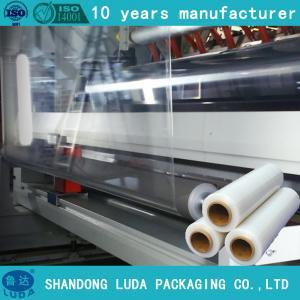 China 23mic pallet shrink wrap plastic packaging film,hand pallet shrink wrap filme stretch wholesale