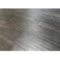 Gray distressed laminate flooring with distressed surface for Glueless laminate flooring