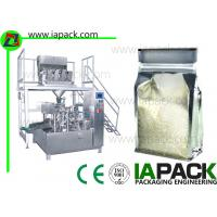Rotary Preformed Bag Packaging Machine For Rice Premade Pouch Packing Machine