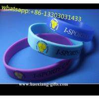 China cheap selling Purple Silicone Bracelet with customized printing logo wholesale