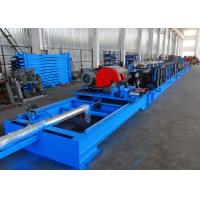 China Self Seamed Step Rack Roll Forming Machine With Flying Saw Cutoff wholesale