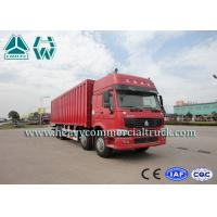 China ZZ1317 Energy Saving Lorry Truck With Insulated Van , Refrigerating Installation wholesale