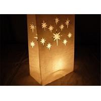 """China Paper Packaging Bags / Luminary Lantern Bags Path Lighting 6""""Width x 10""""Height x 3.5""""Depth wholesale"""