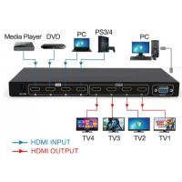 Buy cheap Matrix 4 in 4 out HDMI2.0 switch and splitter support 4K from wholesalers