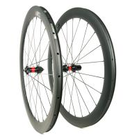 China 28 Holes 700c Disc Brake Bike Wheels Clincher 28mm Wide 60mm Depth Cyclocross on sale