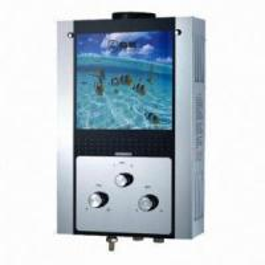 China Glass Panel Gas Water Heater, Energy-saving on sale