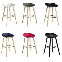 China Beech Wooden Hay Bar Stool , Optional Colors Kitchen Counter Stools 75cm Height wholesale
