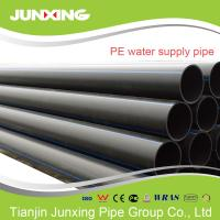 China PE100 water supply black hdpe pipe for water with blue line 200mm wholesale